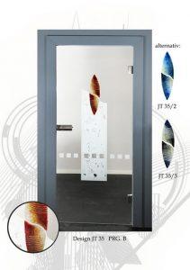 moderne glasinnentüren