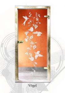 glastüren mit dekoren