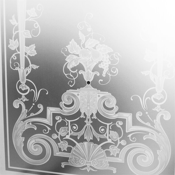 Historische Gläser - Glasdekore Teufel
