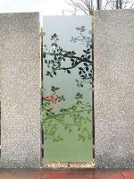 Sichtschutz Glas Stein