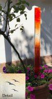 moderne Gläser im Garten