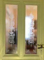 Glaseinsätze Holztür