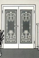 alte Türen mit Glas