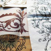 Glaskunst Zeichnungen