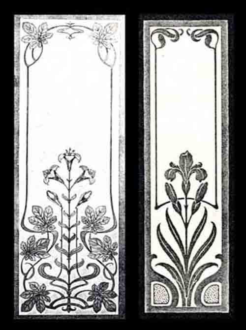 Jugendstil glasscheiben glasdekore teufel for Ornamente jugendstil