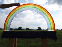 glasregenbogen für grabsteine