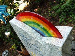 regenbogen für grabstein