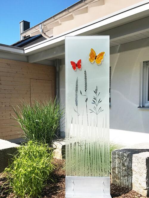 Sichtschutz Garten Ideen Glasdekore Teufel