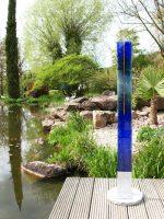 Gartenstele blau