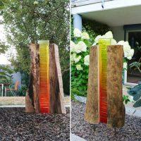 Holz-Glas-Kunst