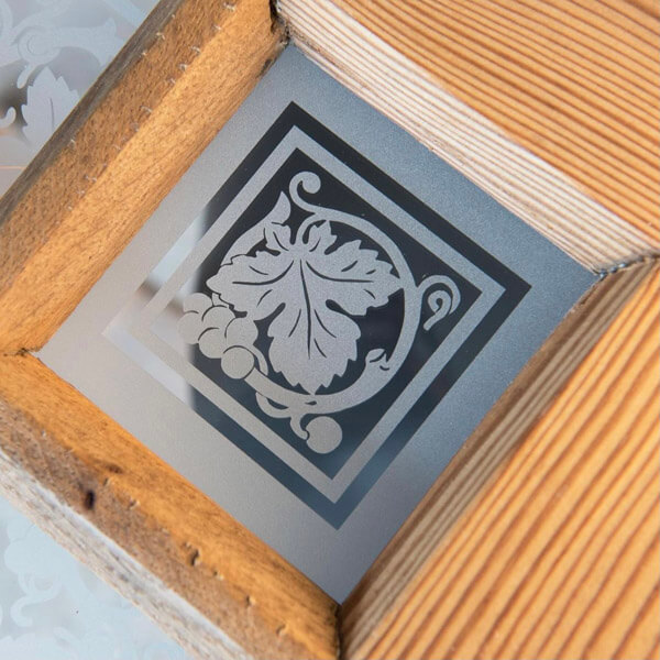Glas sandstrahlen Muster