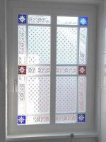 Musselinglas Fenster