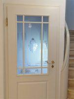 Stiltüren weiß mit Glasscheibe